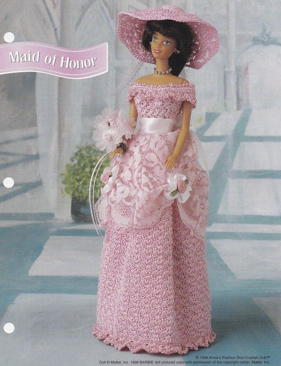 Maid of Honor, Annie\'s Fashion Doll Crochet Pattern Club Leaflet ...