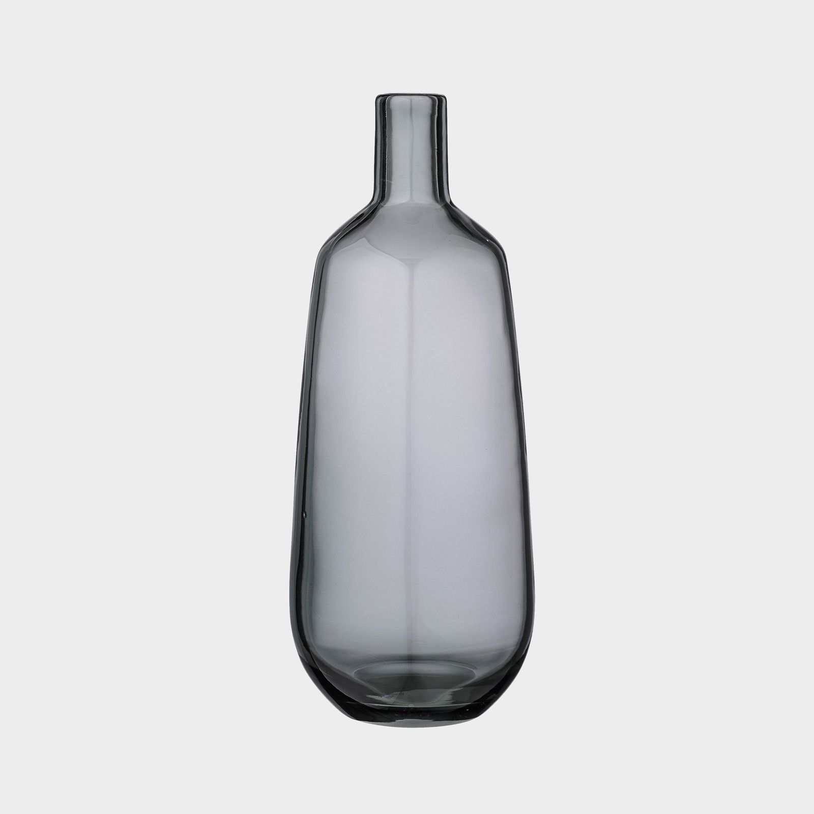 Bloomingville Grey Glass Vase: Add striking Scandinavian style to your abode with this Grey Glass Vase from Bloomingville. Ideal for holding single flowers or a small bouquet,this narrow neck vase is a fabulous addition to any room.