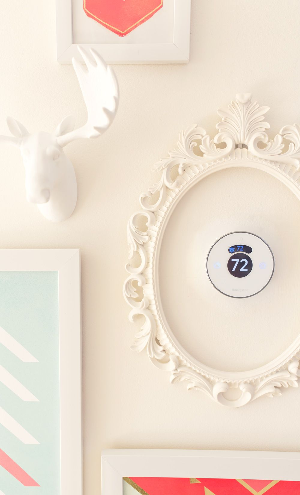 Adding a frame around your Lyric thermostat is a unique way to ... on home closet, home lights, home bed, home desk,