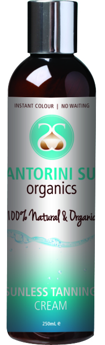 SANTORINI SUN Sunless Tanning Cream 250mL SUITABLE FOR