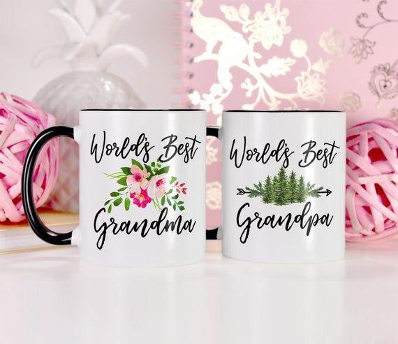 Grandparent Gifts for Grandparent Mugs Set, Ceramic Grandma and Grandpa Mugs, Grandparent Announceme #bestgiftsforgrandparents
