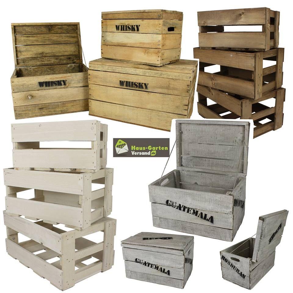 JETZT NEU Holzkisten in verschiedenen Größen und Farben Ein