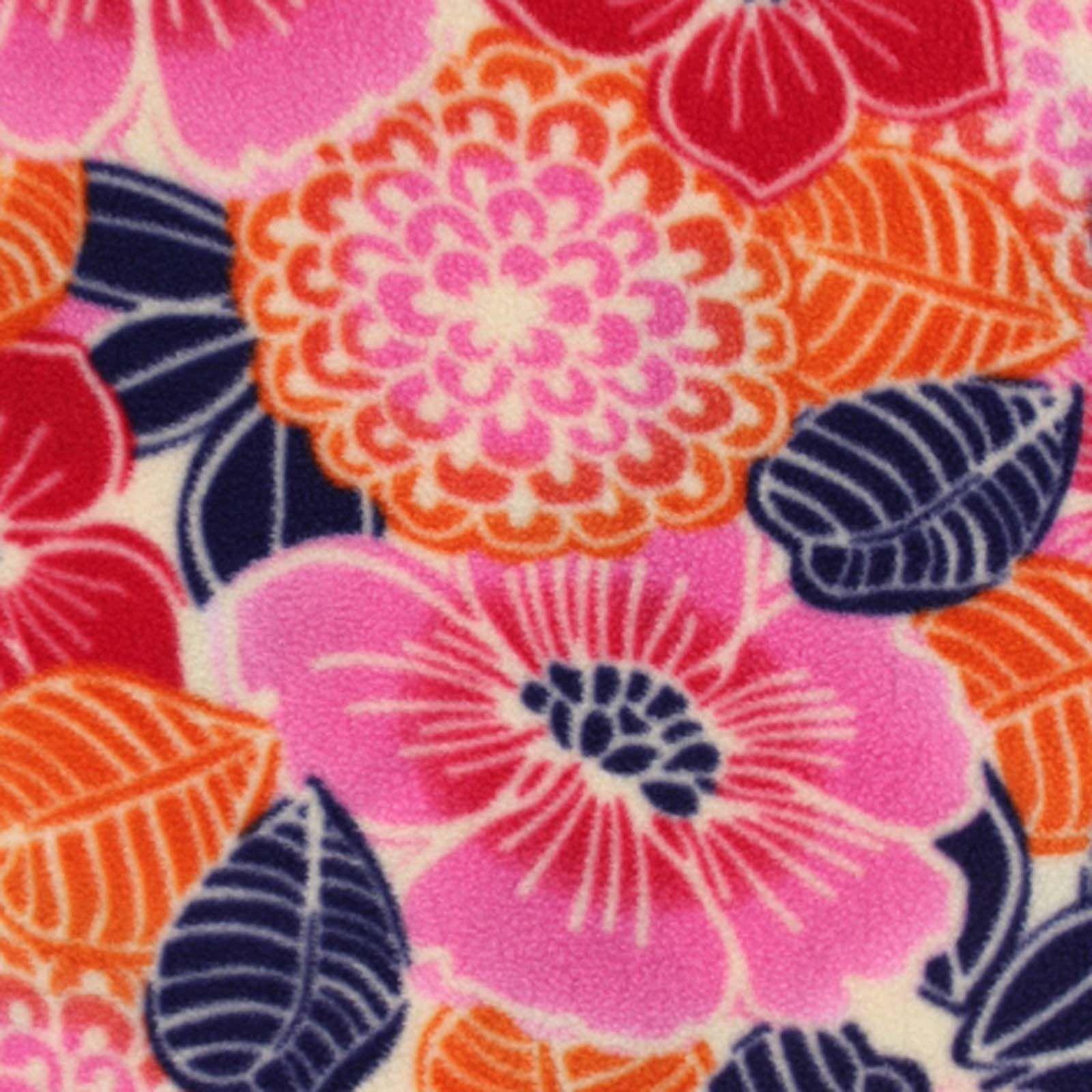 Antipill fleece fabric watercolor floralantipill fleece fabric