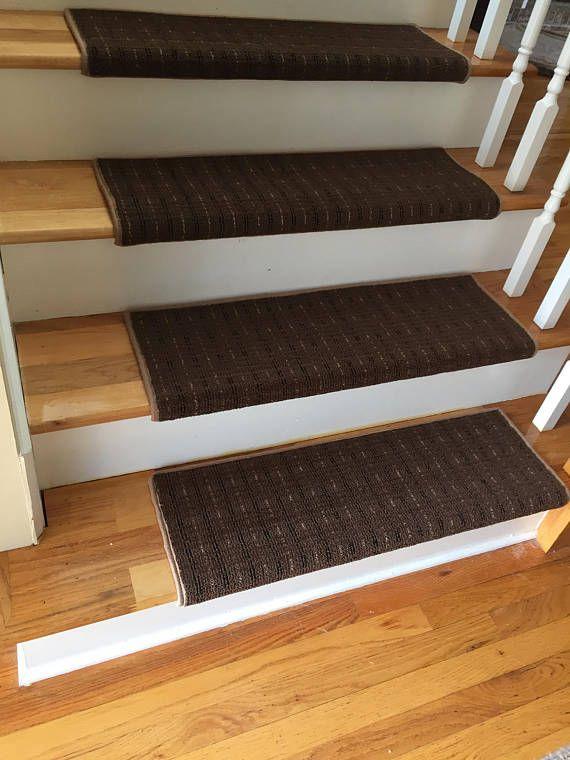 Best Wingtip Brown True Bullnose™ Carpet Stair Tread Grand Carpet Stair Treads Bullnose Carpet 400 x 300