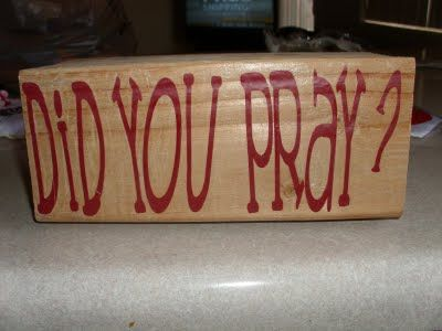 Homemaking Honeys: CRAFTS  Prayer blocks