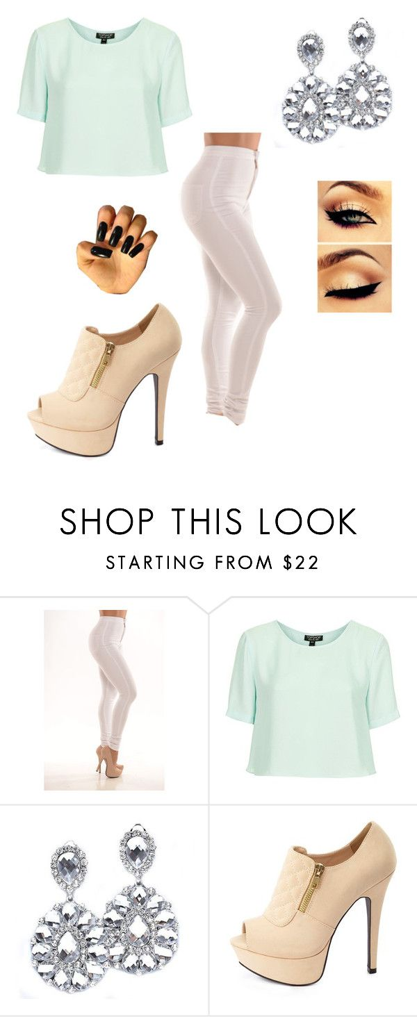 """""""Untitled #341"""" by alexa-riri ❤ liked on Polyvore featuring Topshop and Charlotte Russe"""