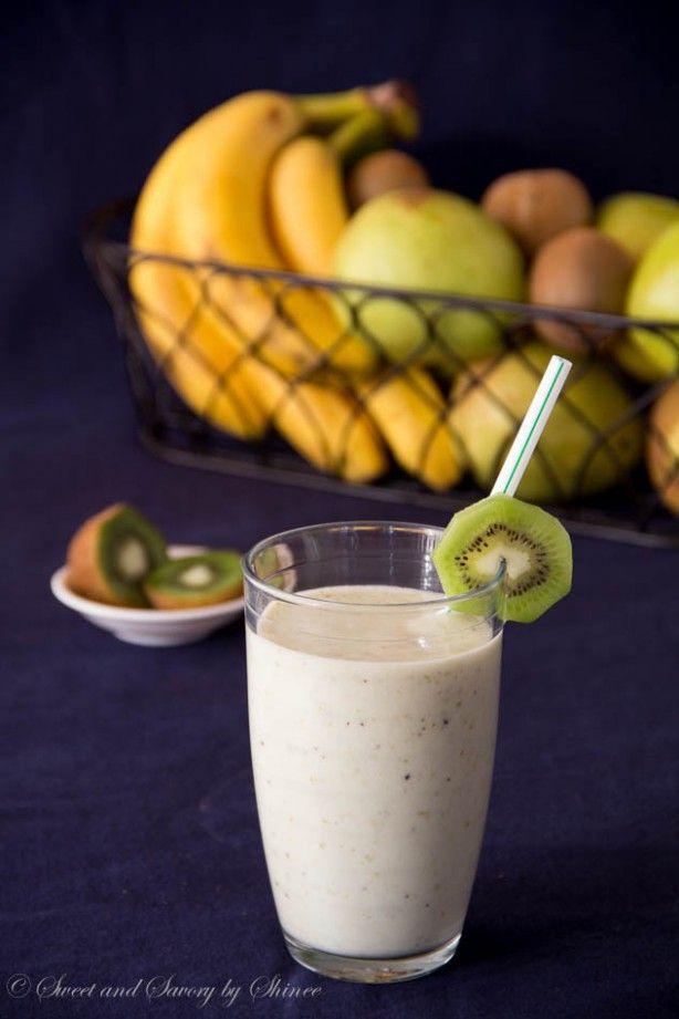 smoothie banaan peer yoghurt