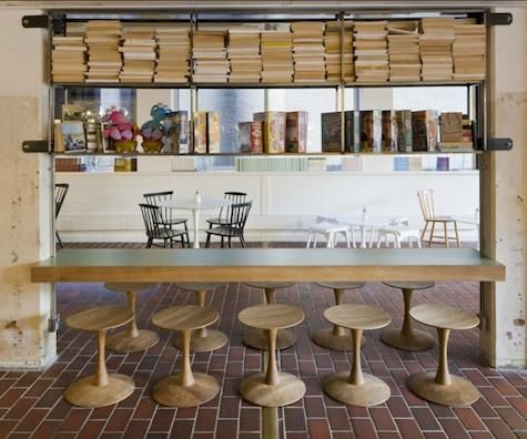 Those stools & that chunky wood counter are to die for, would love to replicate {barbican foodhall london}