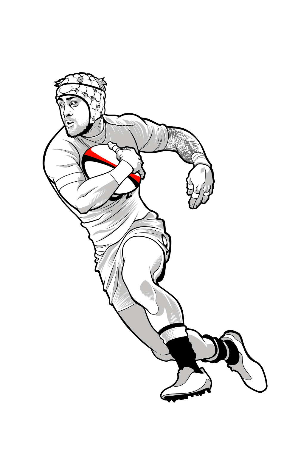 Pin On Rugby Disegno