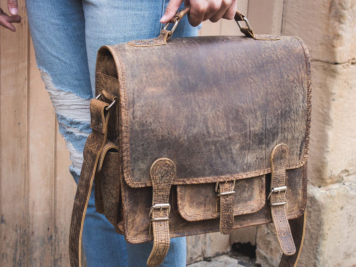 944456f6e470 Small Overlander Leather Bag 14 inch Thumbnail