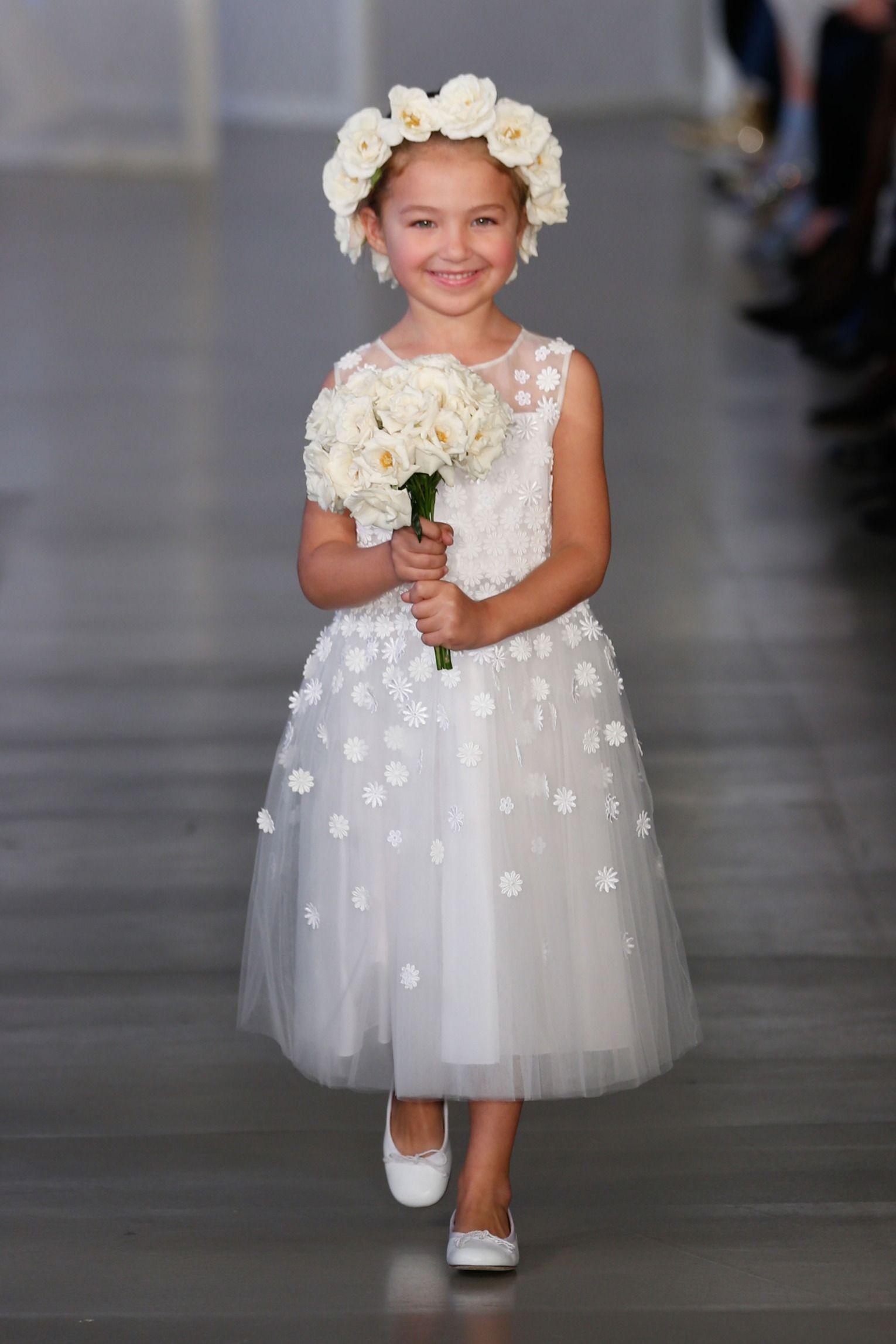 ea282ebea30 Oscar de la Renta Spring 2017 bridal - flower girl!