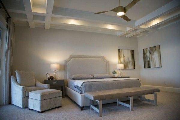 einbaubeleuchtung bett kopfteil luxus beige Schlafzimmer Ideen