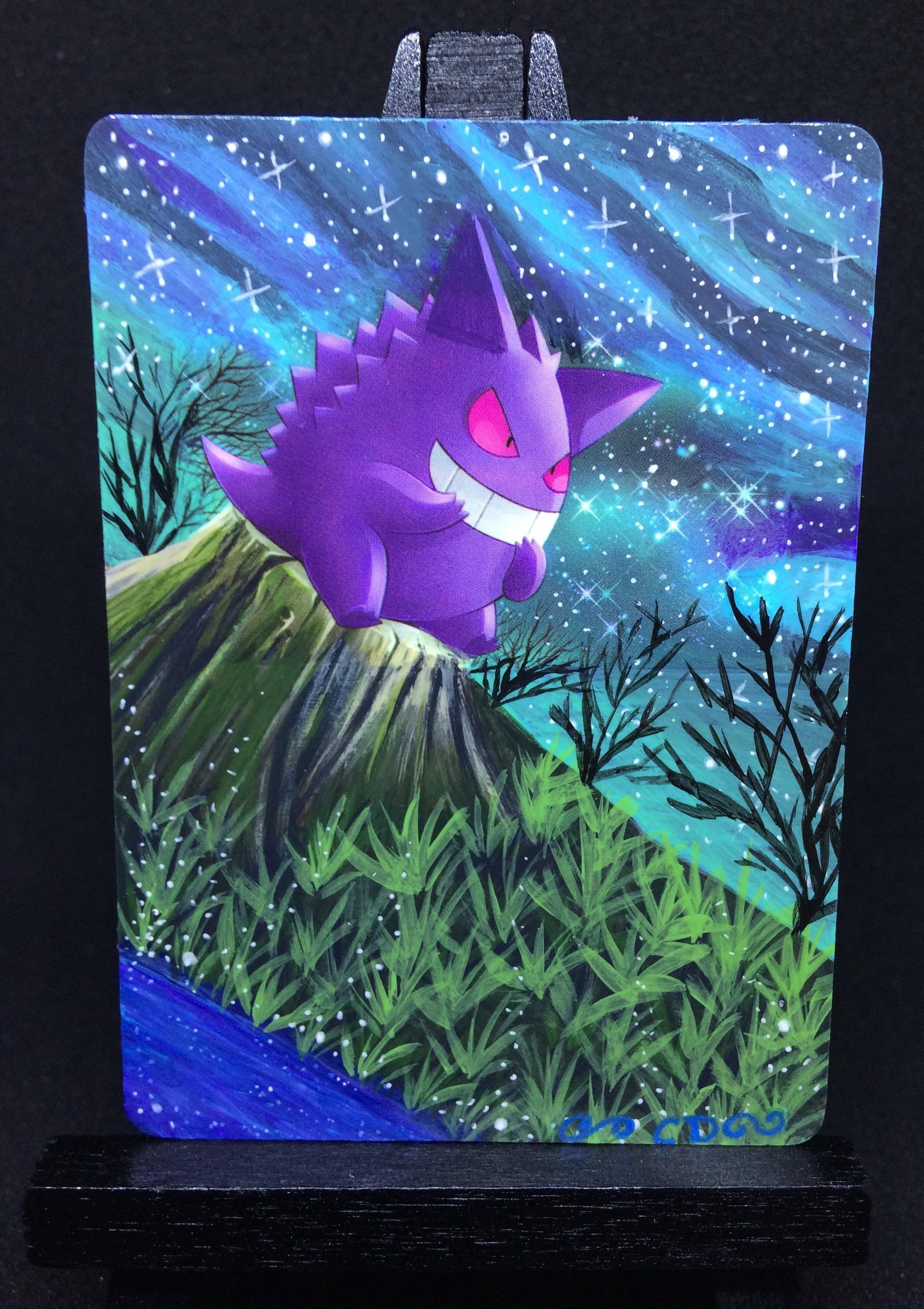 Painted gengar card alter httpsiredditluz8wk118qsy