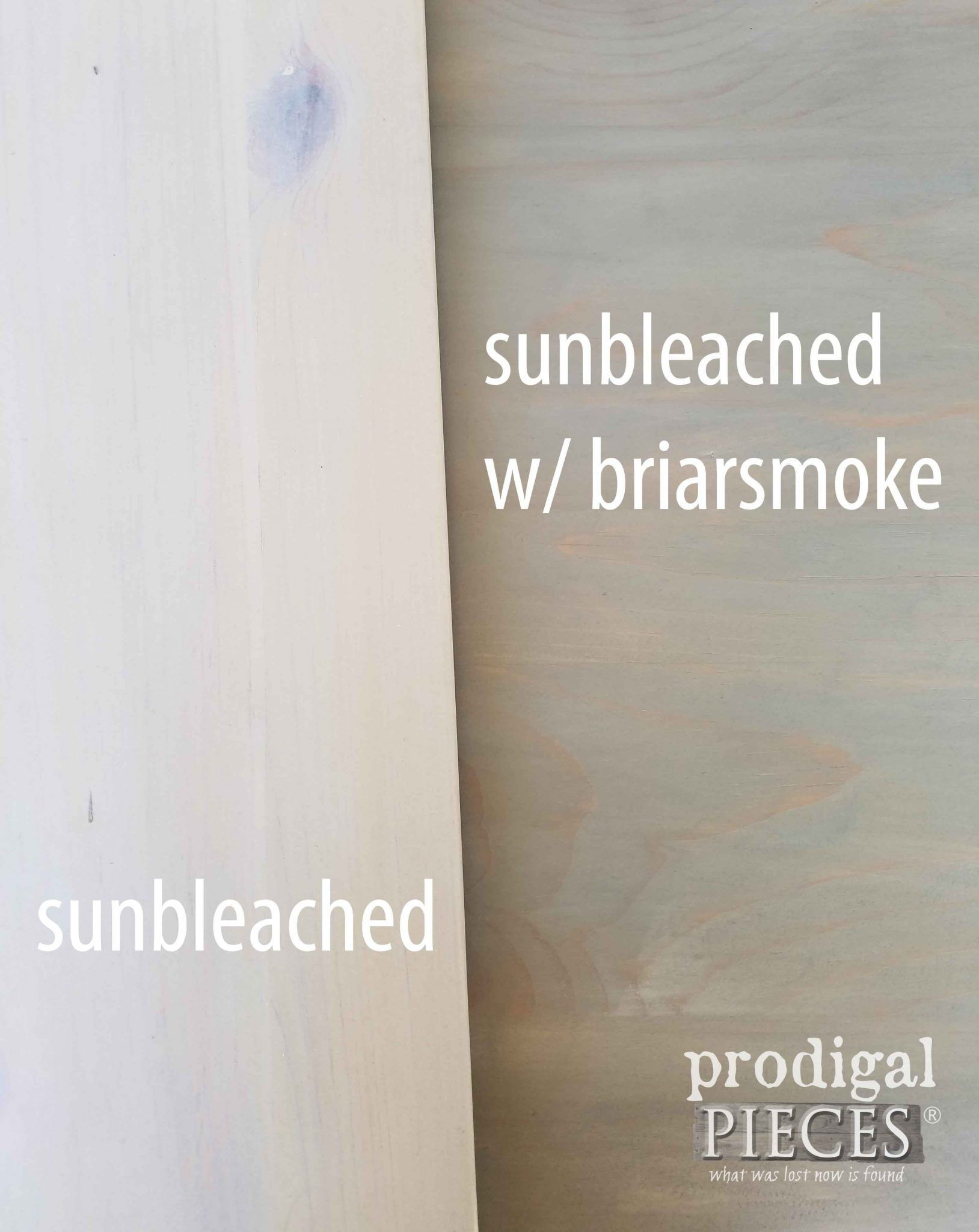 Sunbleached And Briarsmoke Stains Compared For Texture By Prodigal Pieces Prodigalpieces Com Staining Wood Stain On Pine Diy Wood Stain