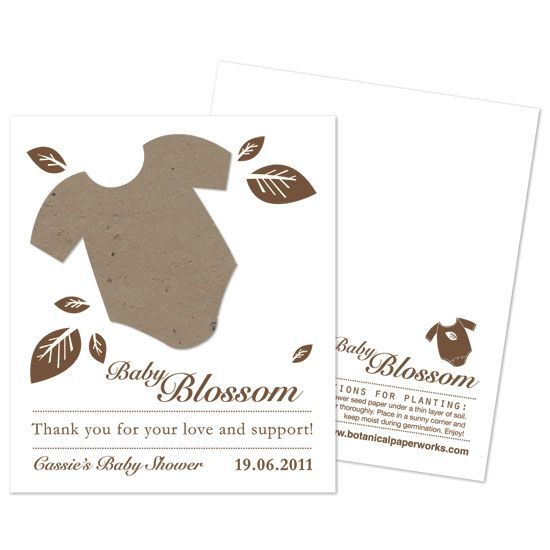 onesie eco baby shower favors