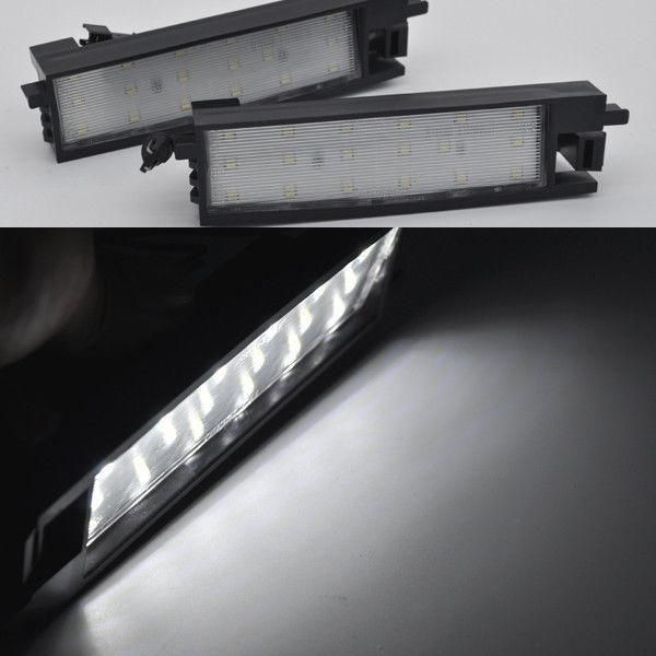 2x Bright White 18 Led License Plate Lights For Toyota Rav4 Xa40 2013 2015 Auris Toyota Aygo Number Plate Car Lights