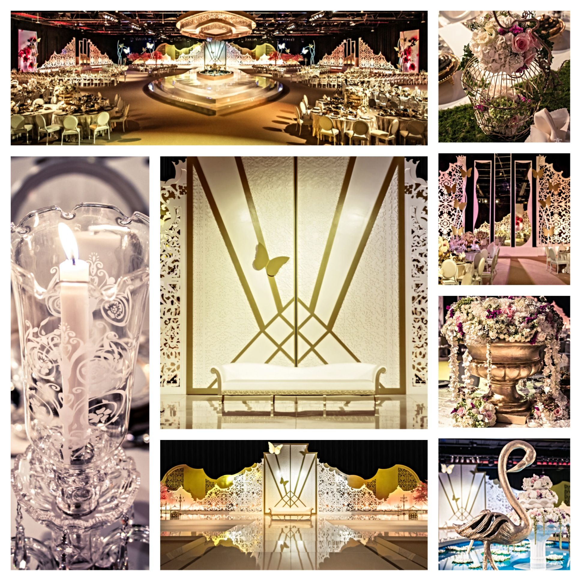 Wedding decorations gate  The Secret Garden WeddingThe heart of this grand wedding is in its