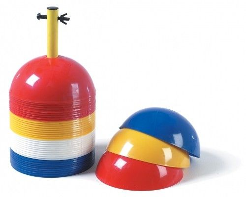 Markeerbollen vier kleuren (40 stuks) | Afbakening | Moos Sports