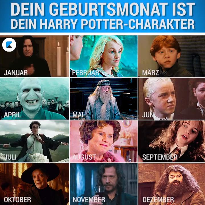 Dein Geburtstmonat Ist Dein Harry Potter Charakter Video Harry Potter Characters Harry Potter Jokes Funny Harry Potter Jokes
