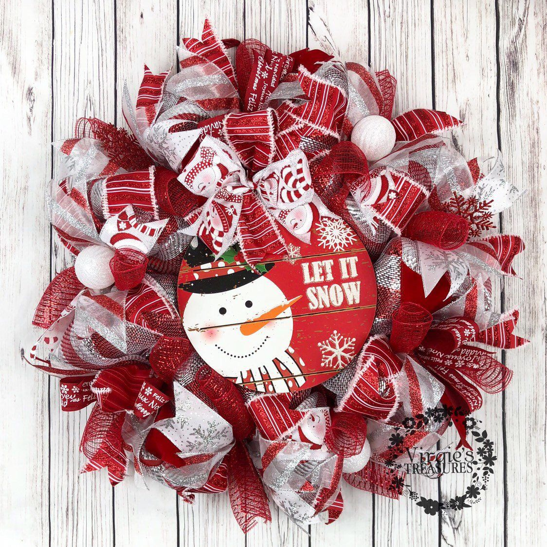Excited To Share This Item From My Etsy Shop Red And Silver Christmas Wreath Red And White Holiday Wreath Christmas Wreath Sn Christmas Wreaths Silver Christmas Holiday Wreaths