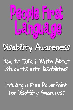 People First Language - FREE Disability Awareness PowerPoint - free change address