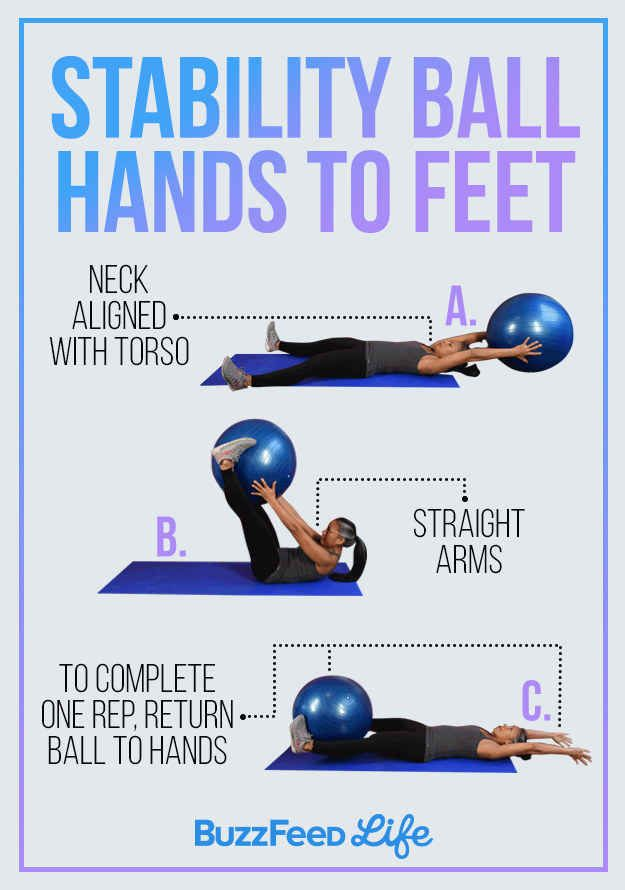 yoga ball ab workout
