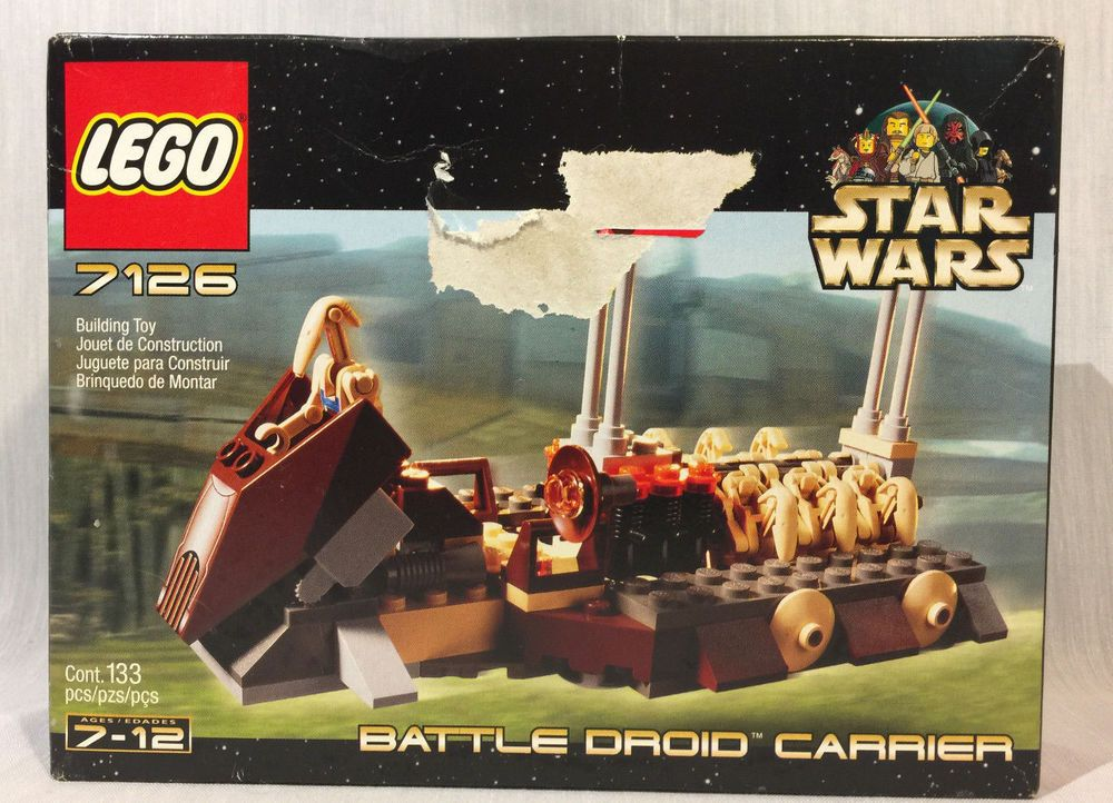 LEGO 7126 Star Wars Battle Droid Carrier New Unopened   Ebay