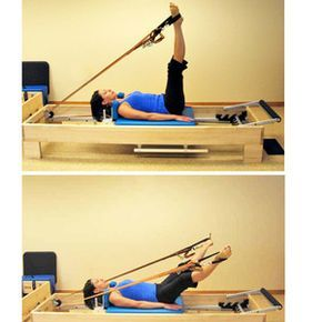 Photo Reference for Beginner Pilates Reformer Workout: Leg Circles