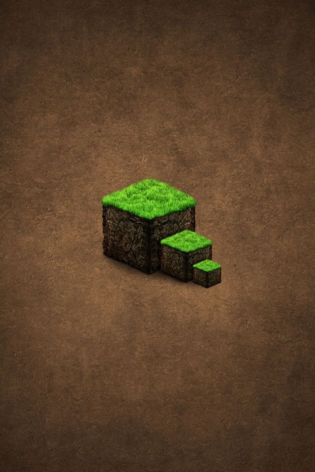 Mini Grass Block Minecraft Wallpaper Android Wallpaper Minec