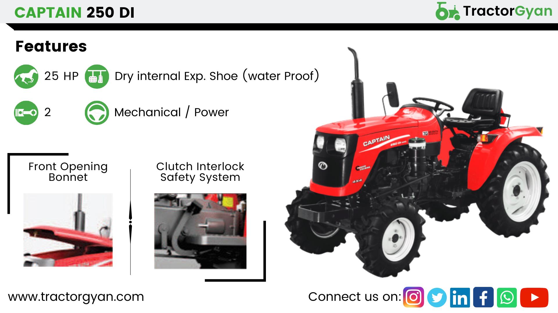 Captain 250 DI in 2020 Tractors, Tractor price, Captain