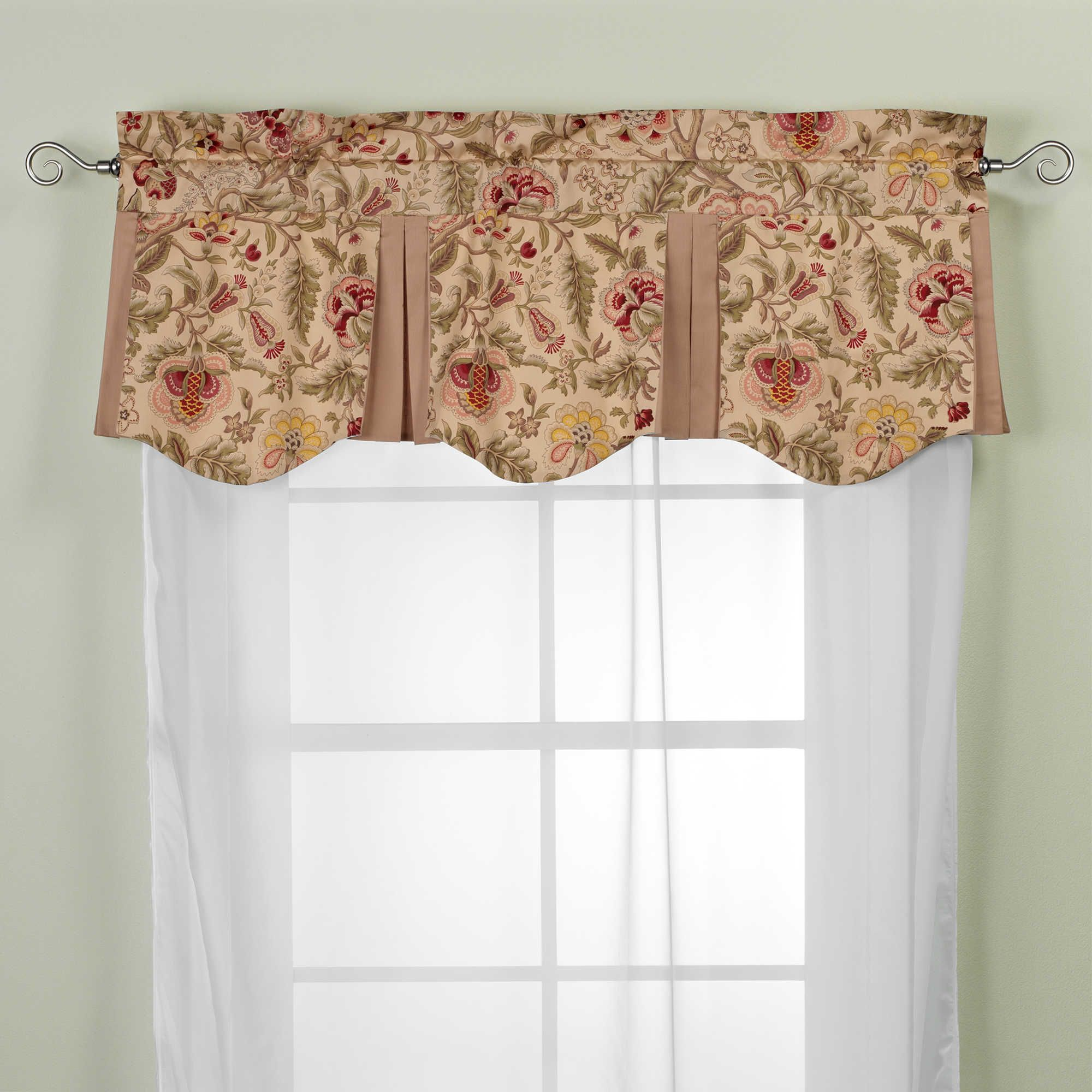 Imperial Dress Antique Valance | Valance, Living room window ...