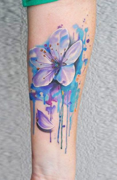 10 Floral Tattoo Artists You Could Trust Your Skin To: Abstract Flower Tattoos, Pretty