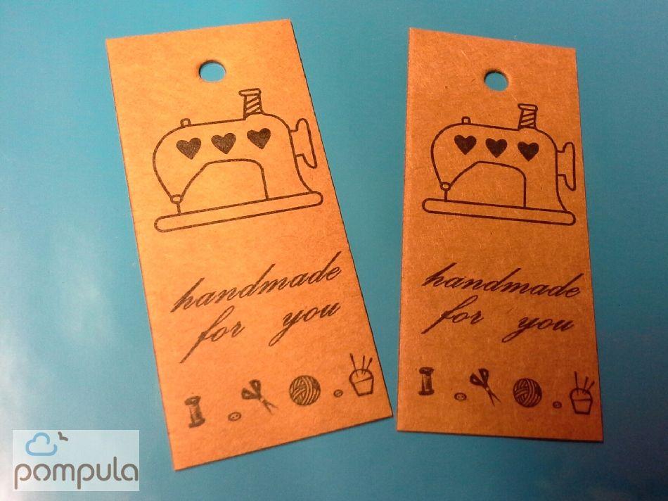 Handmade for you - kartonkinen tuotelappu 5 kpl