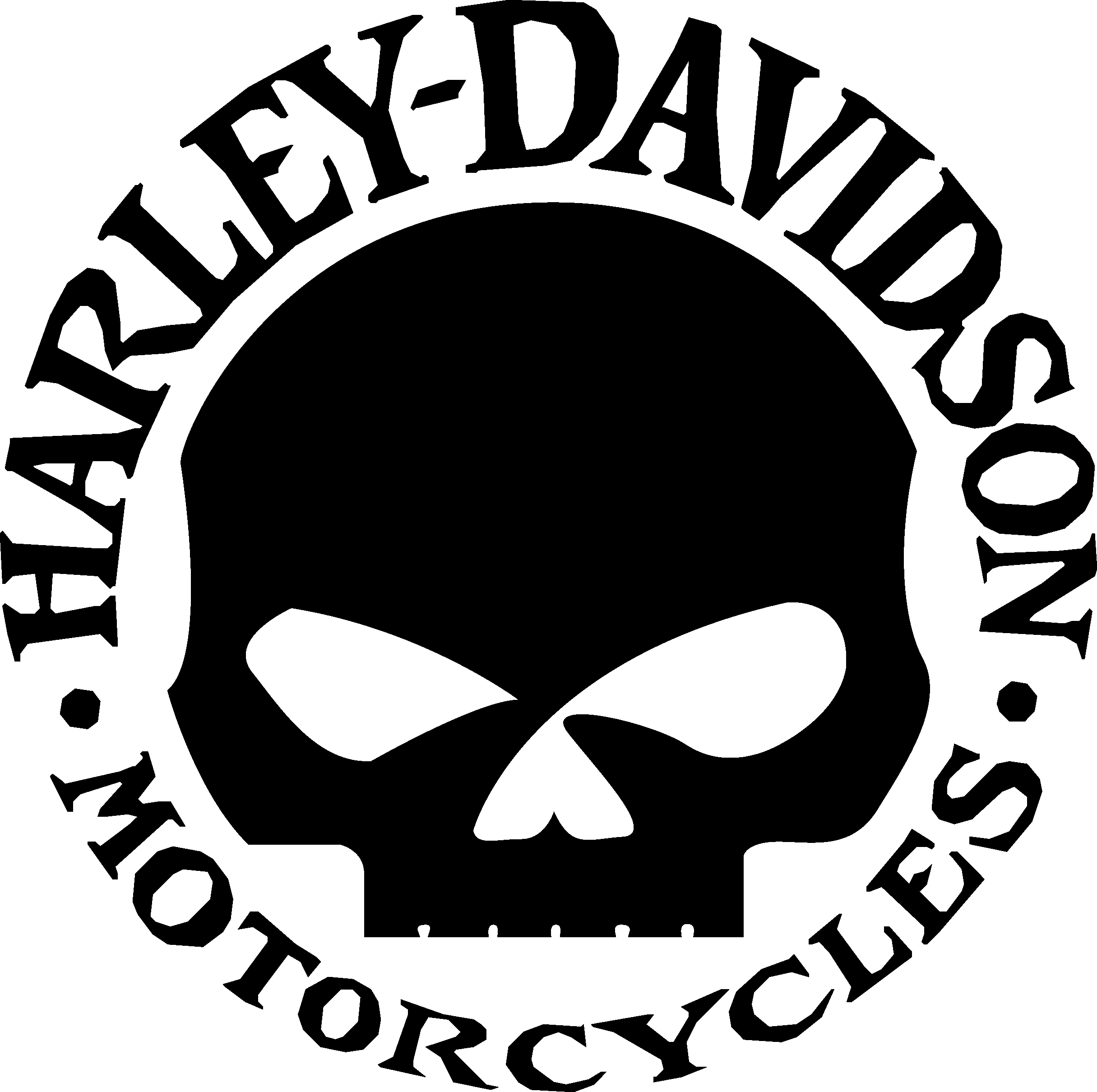 Willie G Skull Logo Harley Davidson Logo S Lijnpatronen