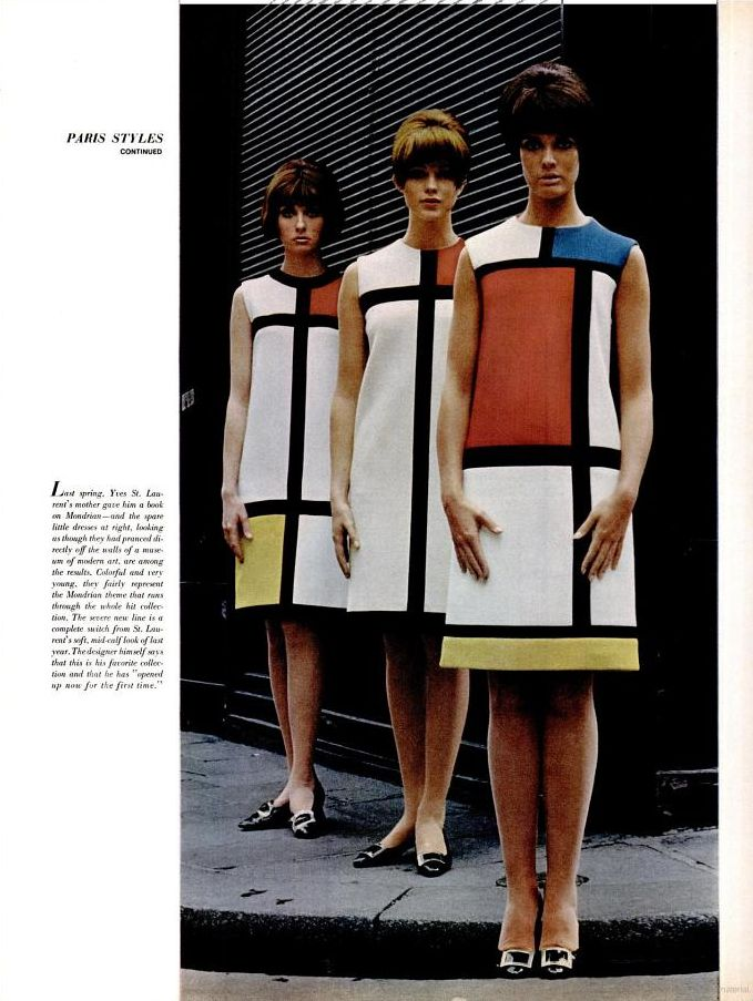 9911dfe0c61 YSL MONDRIAN DRESS X 3 FROM LIFE MAGAZINEjpg | 20th Century Fashion ...