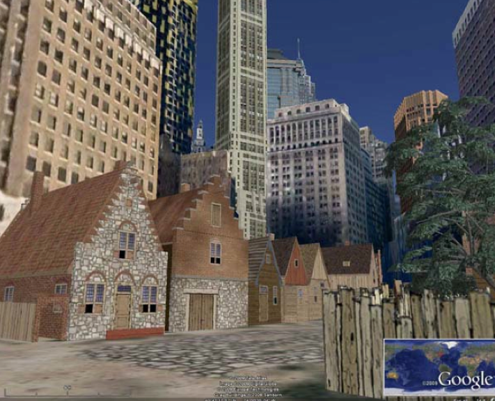 New Amsterdam History Center: Screenshot from the Virtual New ...