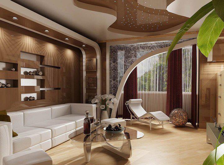 La iluminaci n en los techos modernos ca aviri - Plafones para salon ...