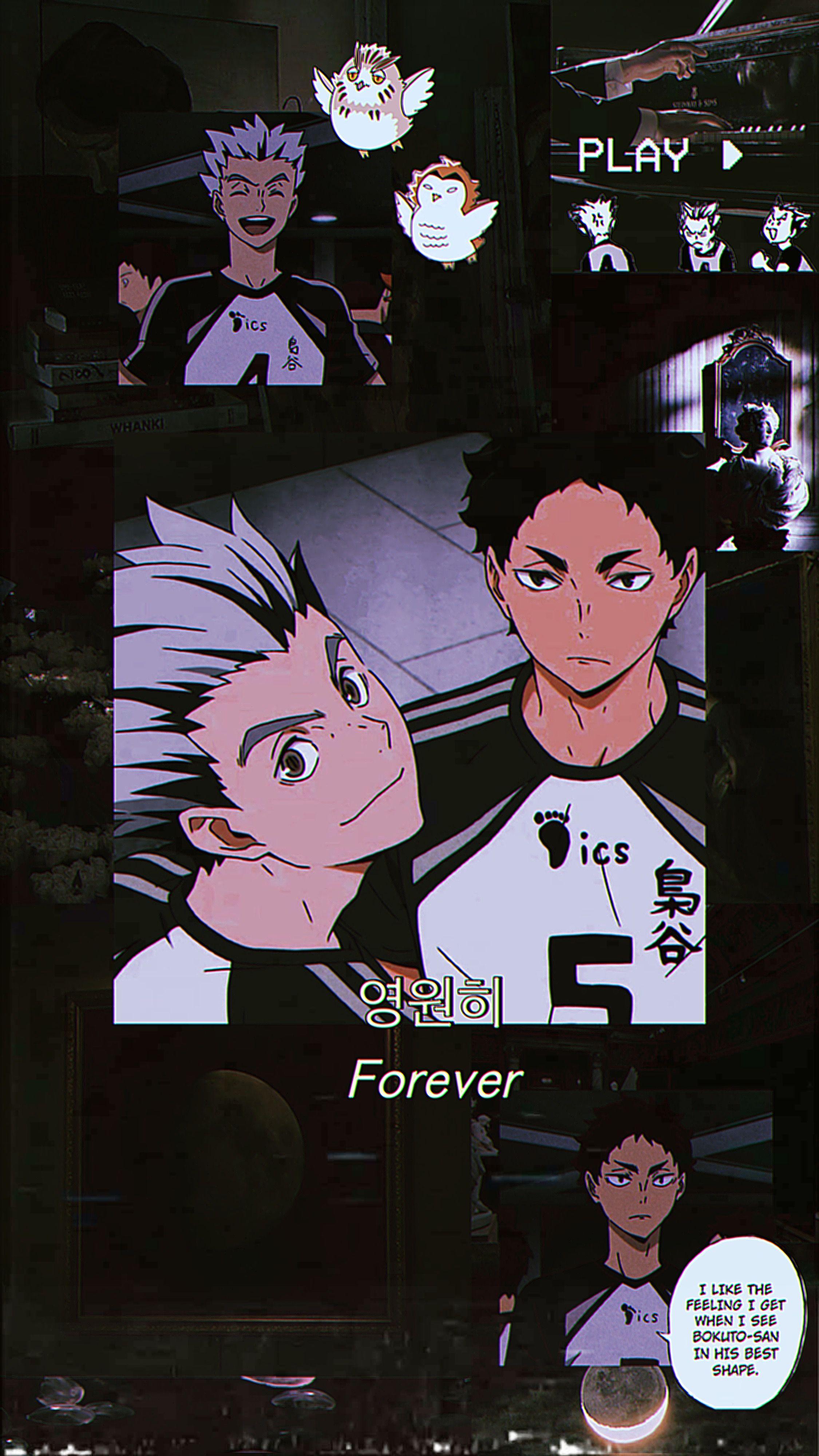 Bokuto Akaashi Wallpaper In 2020 Cute Anime Wallpaper Haikyuu Anime Anime Wallpaper Iphone