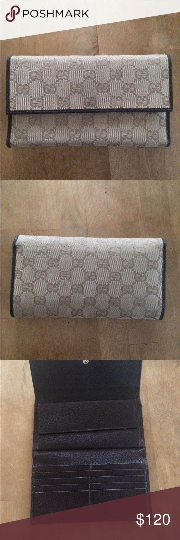 90e16dc3e55 Gucci women s wallet This is a beautiful woman s Gucci trifold wallet. It  has eight credit