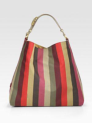 c81aef78431 Fendi Pequin Canvas Hobo Bag   Dream Bags   Pinterest   Bags, Fendi ...