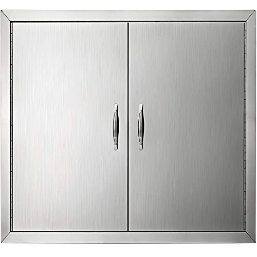Mophorn Double Wall Bbq Access Door Cutout Outdoor Storage Cabinet Brushed Stainless Steel Double Walled
