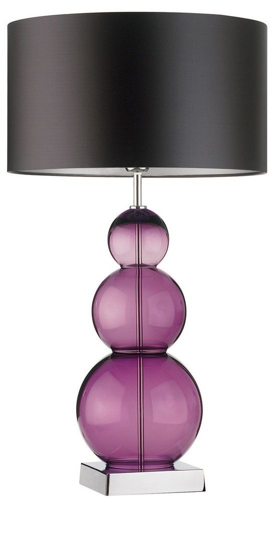 Table Lamps, Designer Purple Globes Glass Table Lamp, So Beautiful, One Of  Over