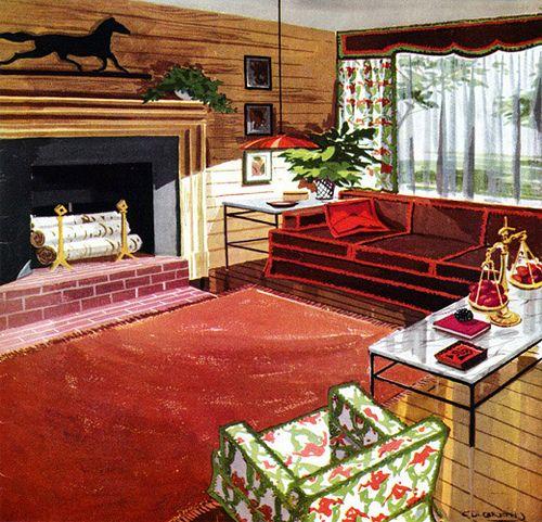 50 S Home Decor 1950s Home Decor Retro Living Rooms 1960s Home Decor