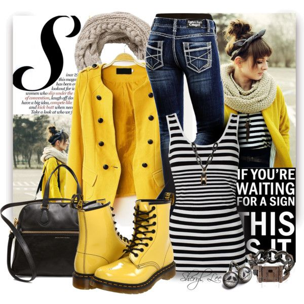 """""""Doc Martens"""" by sheryl-lee on Polyvore. Great look for rainy days."""