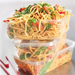 sesame peanut noodles. would be good for work lunches.