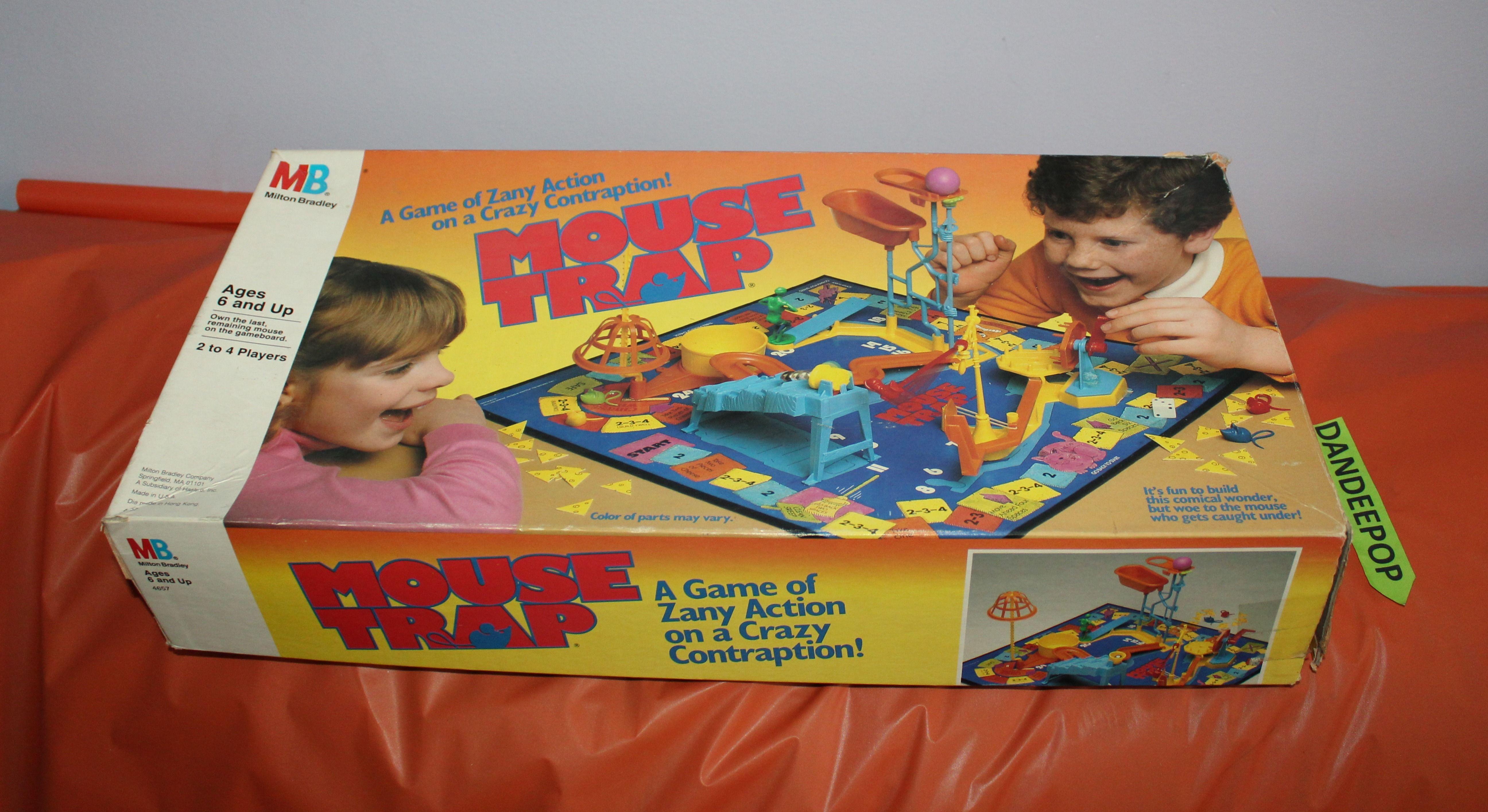 Vintage Milton Bradley Classic Mouse Trap Game Toy 1986 #4657 #mousetrap