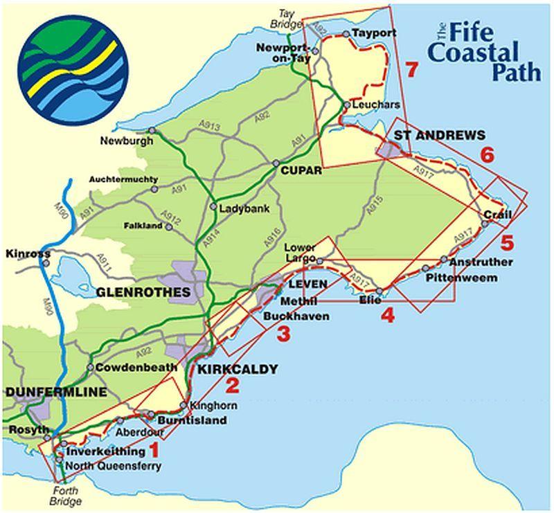 Map East Neuk Towns Fife Coastal Path Outing Ideas Coastal