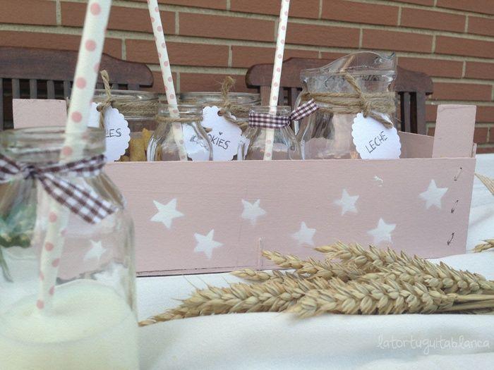 resultado de imagen de cajas de fruta decoradas para comunion