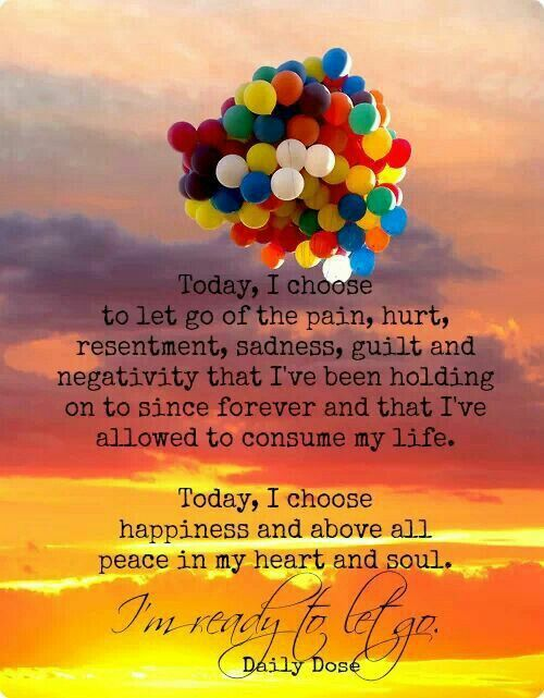 Today, choose to let go