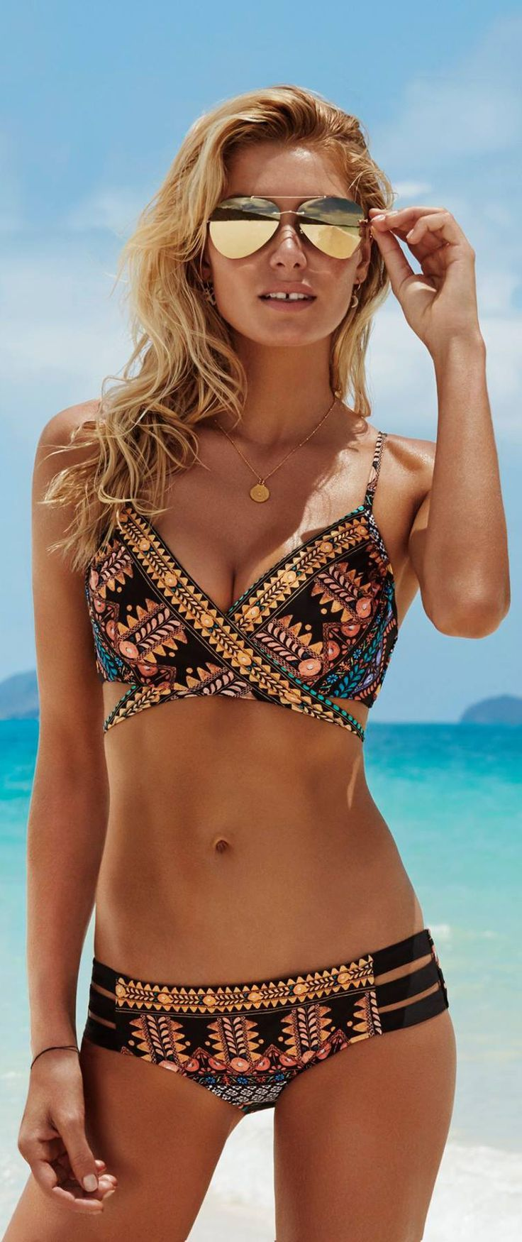 ... Suit Set Swimwear Beachwear For Girls. Bohemia Printed Two-Pieces  Bikini Swimwear – oshoplive. Te gusta el estilo bohemio  288066585605